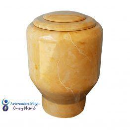 urna funeraria de mármol dorado armt55
