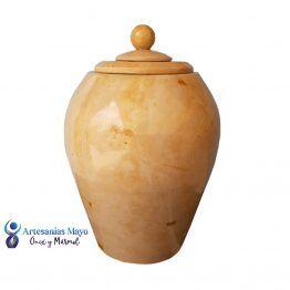 urna funeraria de mármol dorado artm60