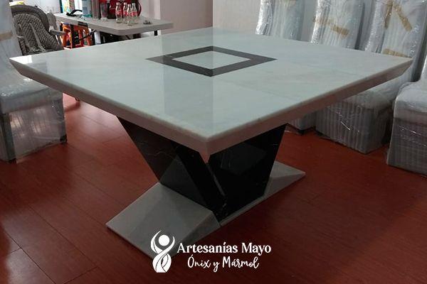 comedor vicenza de mármol negro 8 sillas