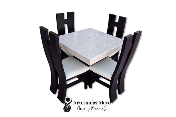 comedor de mármol de 4 sillas
