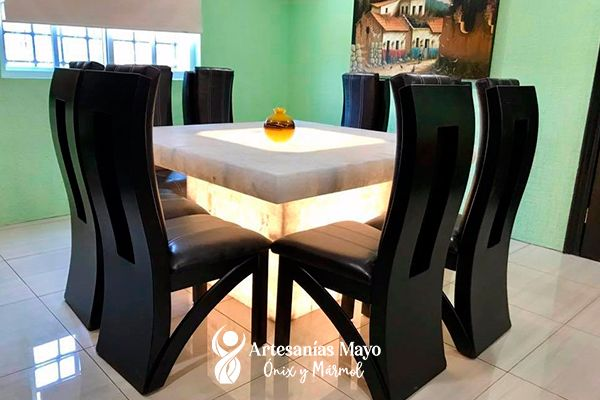 comedor de ónix 4 sillas
