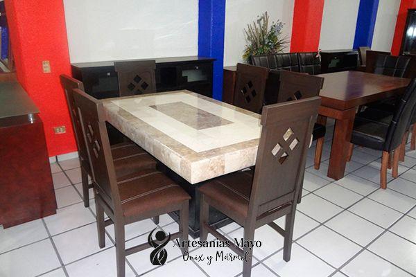 comedor de mármol 6 sillas