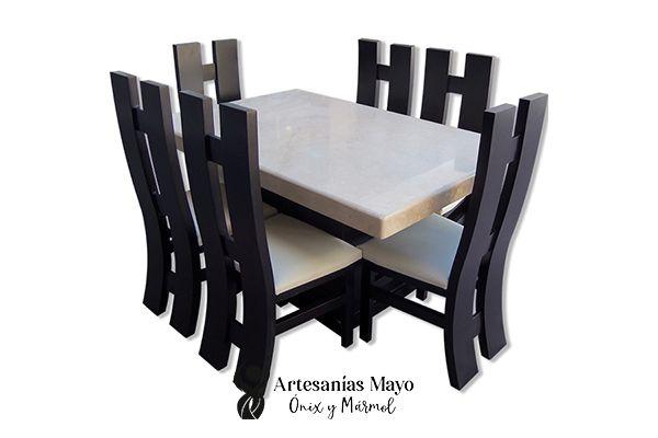 comedor de mármol fiorito 6 sillas