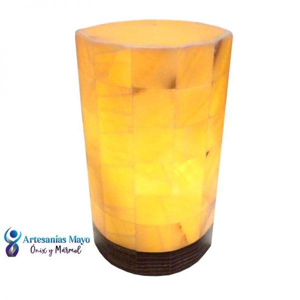 lámpara de ónix piña diseño elíptica