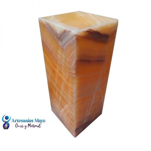 lampara de ónix rectangular para buró
