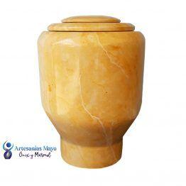 urna para cenizas de mármol dorado artm55