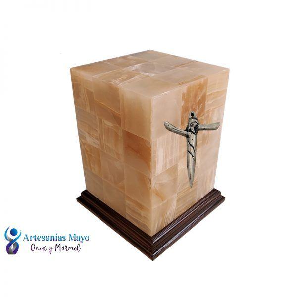 urna de ónix ámbar diseño san agustín