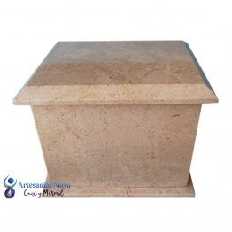 urna funeraria de mármol arena diseño artm53