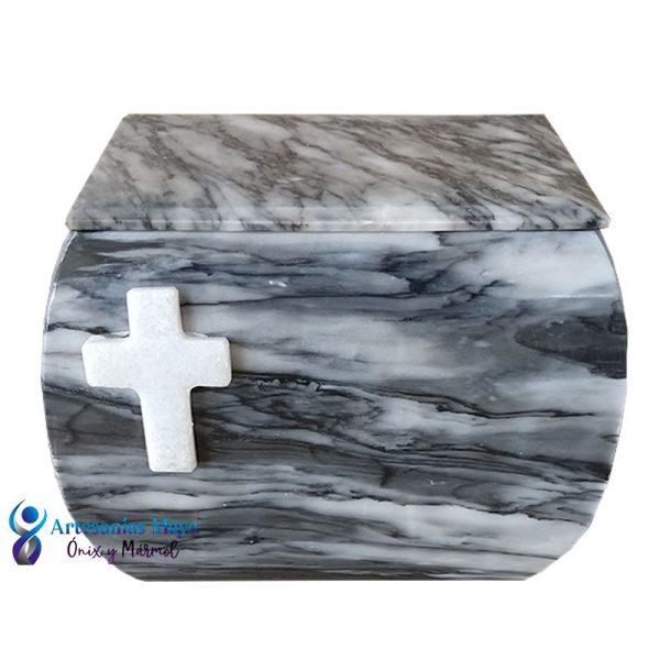 urna de mármol gris para cenizas diseño artm56