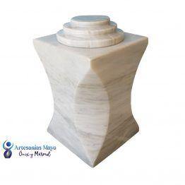 urna funeraria de mármol bego