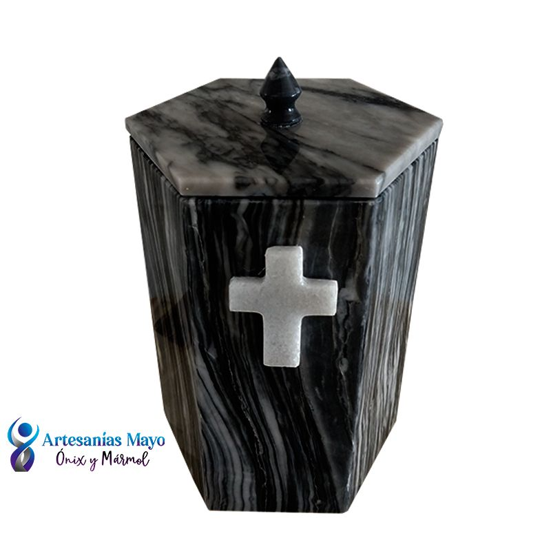 urna funeraria de mármol gris diseño artm58