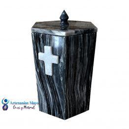 urna para cenizas de mármol gris diseño artm58