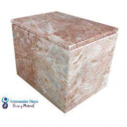 urna para ceniza de mármol rosa diseño artm61