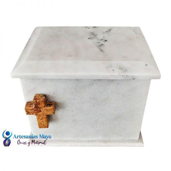 urna de mármol blanco diseño artm53