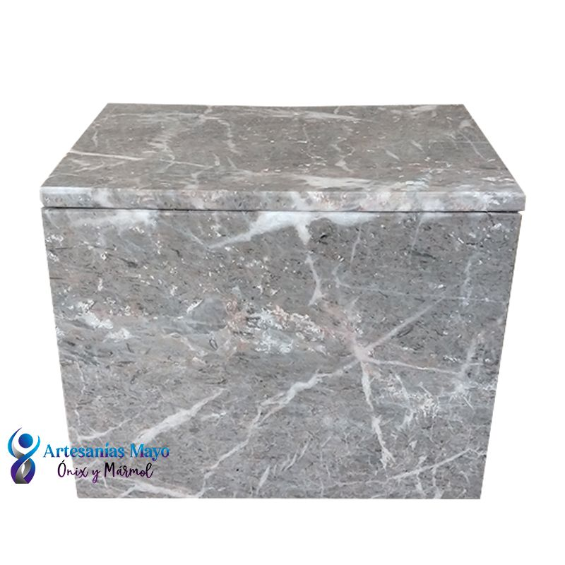 Urna funeraria de mármol gris diseño artm61