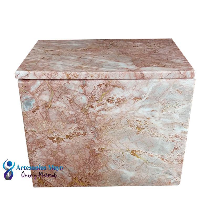 Urna funeraria de mármol rectangular diseño artm61