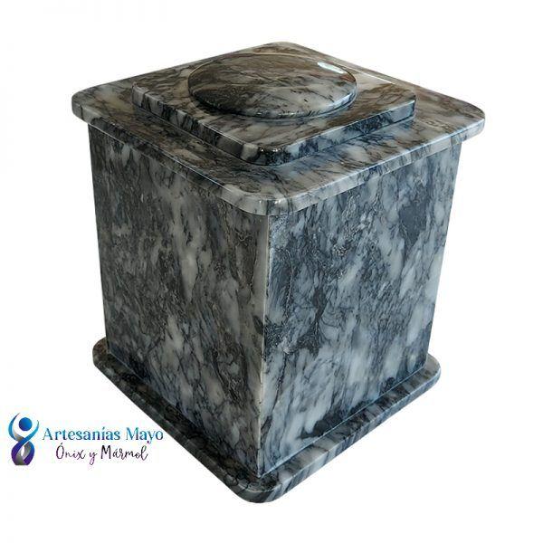 urna de mármol gris mazahua diseño artm52
