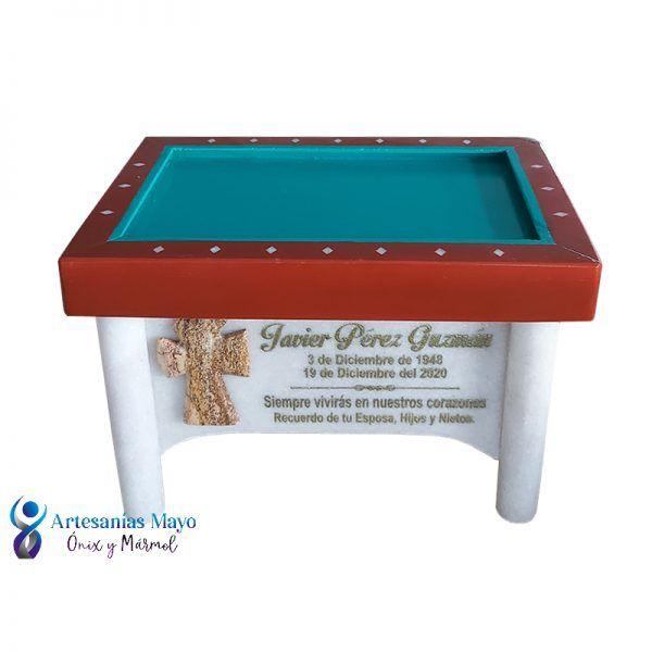 urna de mármol en forma de mesa de carambola
