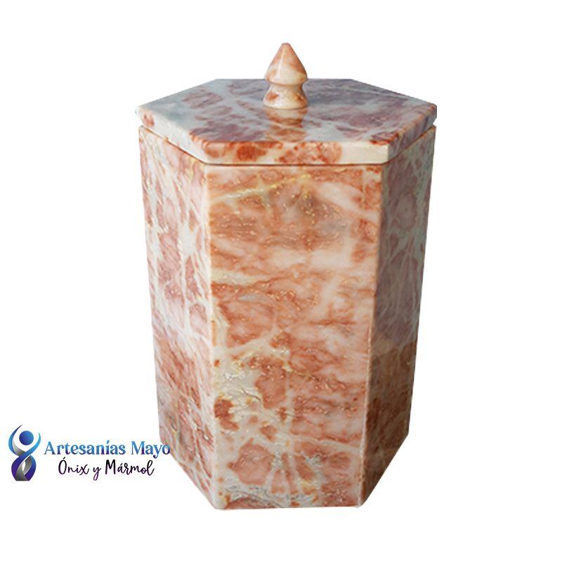 urna para cenizas de mármol rosa diseño artm58